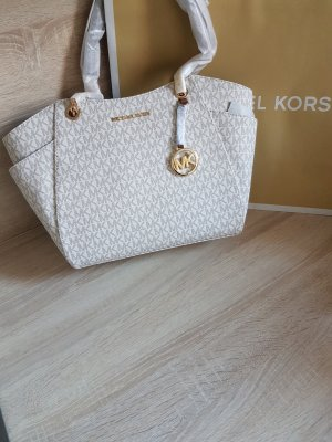Michael Kors Jet Set Chain Travel LG Vanilla Acorn Gold
