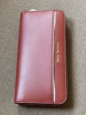 Michael Kors Jet Set Continental Wallet Brandy