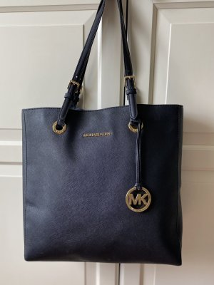 MICHAEL KORS JET SET Leder Handtasche / Shopper schwarz