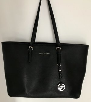 Michael Kors Tote black-silver-colored leather
