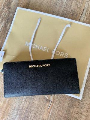 Michael Kors Jet Set Travel Damen Leder Portemonnaie Schwarz