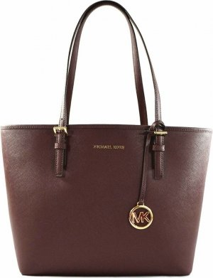 Michael Kors Jet Set Travel Medium Carryall Saffiano Leder Tote
