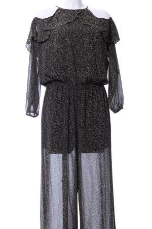 Michael Kors Jumpsuit schwarz-wollweiß Allover-Druck Casual-Look