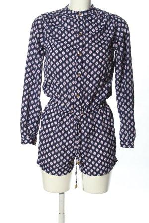 Michael Kors Jumpsuit blau-weiß grafisches Muster Casual-Look