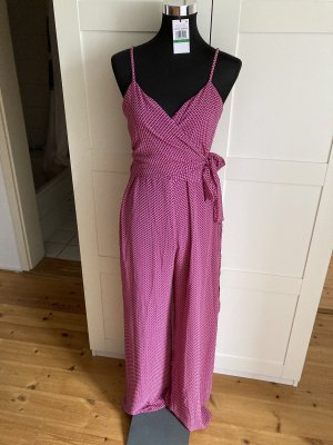 Michael Kors Jumpsuit Overall Pink Weiss Rosa  L 40 10