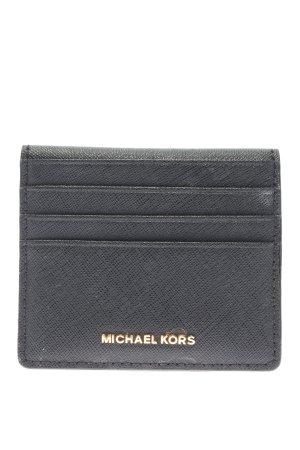 Michael Kors Kartenetui schwarz-goldfarben Webmuster Casual-Look