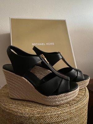 Michael Kors Plateauzool sandalen zwart-wolwit
