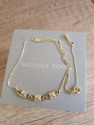 Michael Kors Kette Halskette Gold 925 Sterlingsilber Zirkon Damen neu