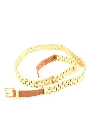 Michael Kors Cinturón de cadena color oro-marrón look casual