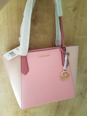 Michael Kors Kimberly Shopper Handtasche Rosa Tasche gold Leder Neu