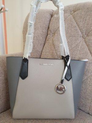 michael kors Kimberly sm bonded tote neu grau silber tasche schultertasche Handtasche