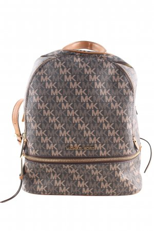 Michael Kors Kindergarden Backpack brown-nude allover print casual look