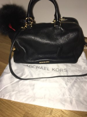 Michael Kors Bowling Bag black-gold-colored leather