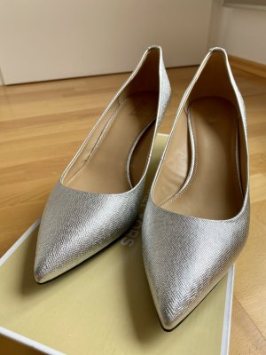 Michael Kors kitten pump Silver leather Gr. 40