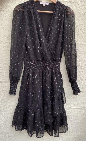 Michael Kors Lace Dress black-silver-colored