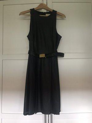 Michael Kors Sukienka z imitacji skóry czarny-złoto
