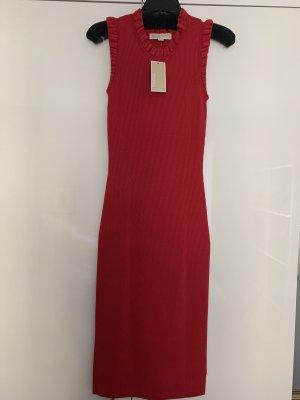 Michael Kors Sukienka ze stretchu ciemnoczerwony