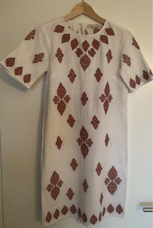 Michael Kors Robe courte blanc-rouge brique