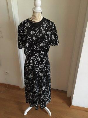 Michael Kors Empire Dress black-white