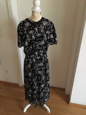 Michael Kors Sukienka z odcięciem pod biustem czarny-biały