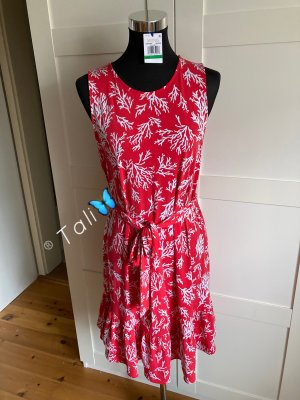 Michael Kors Kleid  Coral Rot Weiss  L 40 10