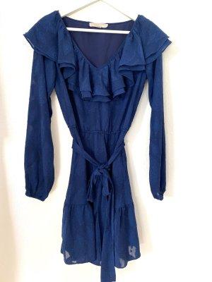 Michael Kors Cut Out Dress dark blue