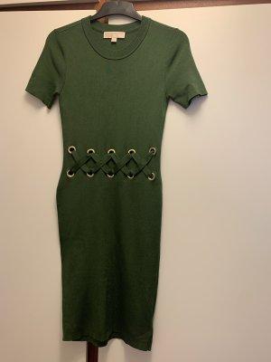 Michael Kors Kleid in Dunkelgrün mit Gold