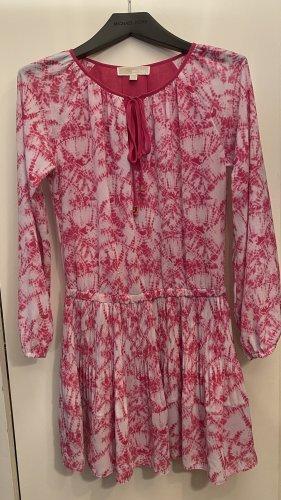 Michael Kors Sukienka z długim rękawem biały-różowy