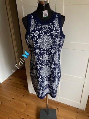 Michael Kors Kleid  Navy Blau Weiss  L 40 10