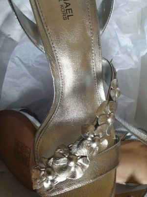 Michael Kors High Heels silver-colored leather