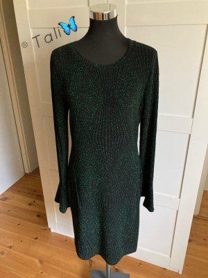 Michael Kors Sukienka ze stretchu czarny-leśna zieleń Poliester