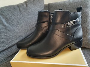 Michael Kors Koncaid Flat Bootie gr. 38,5 schwarz silber leder Stiefeletten Stiefel Ankle Boots