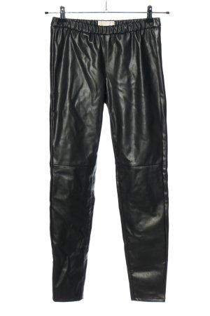 Michael Kors Kunstlederhose schwarz Casual-Look