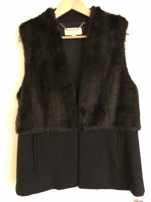 Michael Kors Fake Fur Vest black polyester