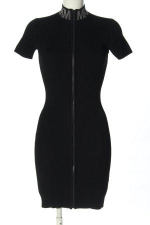 Michael Kors Kurzarmkleid schwarz Schriftzug gedruckt Casual-Look