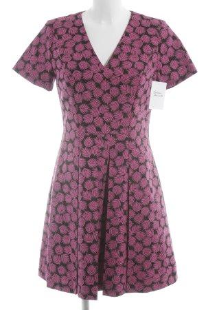 Michael Kors Kurzarmkleid schwarz-pink florales Muster extravaganter Stil