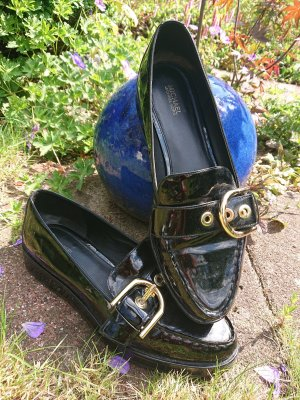 Michael Kors Patent Leather Ballerinas black-gold-colored