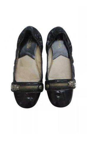 Michael Kors Patent Leather Ballerinas black leather