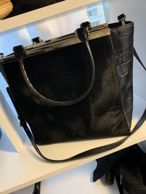 Michael Kors Lana Haircalf Black Tote