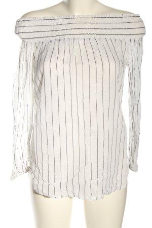 Michael Kors Blouse à manches longues blanc-noir motif rayé