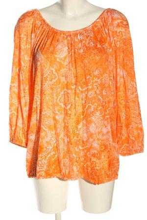 Michael Kors Blouse à manches longues orange clair motif abstrait élégant