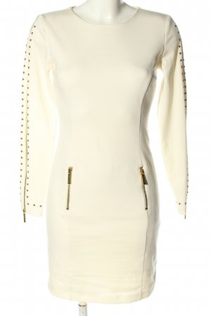 Michael Kors Langarmkleid creme Business-Look
