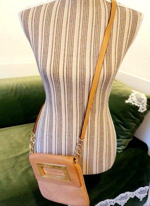 Michael Kors Leder Crossbody Tasche beige gold Schlangenleder Python