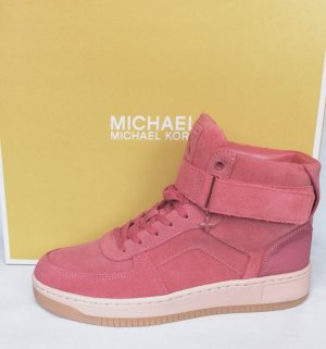 Michael Kors High Top Sneaker pink leather