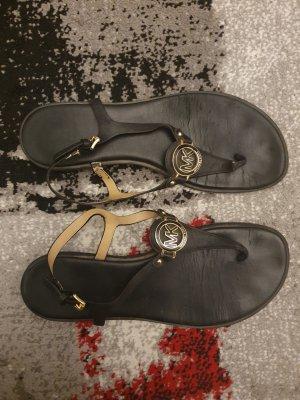 Michael Kors Sandalias con talón descubierto negro-color oro