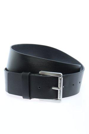 Michael Kors Cinturón de cuero negro look casual