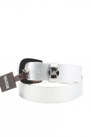 Michael Kors Leather Belt silver-colored casual look
