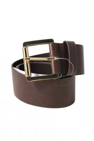 Michael Kors Faux Leather Belt brown casual look
