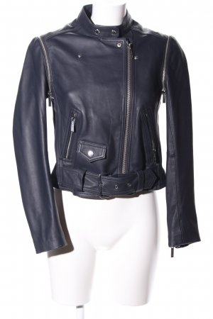 Michael Kors Lederjacke schwarz Business-Look