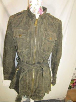 Michael Kors Leather Coat khaki suede